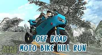 Off road moto bike hill run