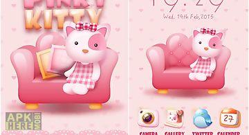 Pinky kitty go launcher theme