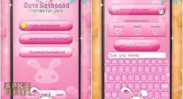 Cute keyboard themes for girls