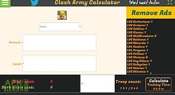 Clash army calculator