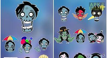 Go keyboard sticker zombie