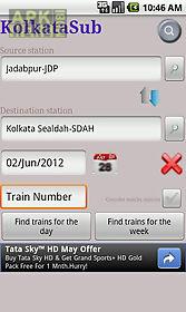 kolkata suburban trains