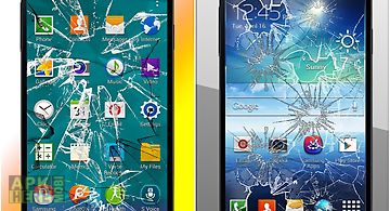 Broken screen scare crack fake