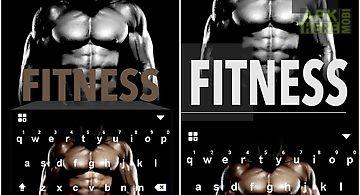 Fitness kika keyboard theme