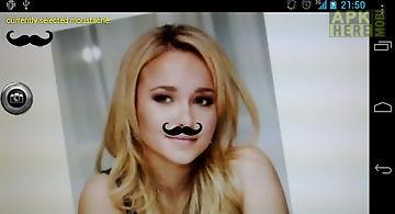 Instant moustache