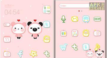 Pink love dodol launcher theme