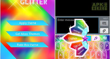 Glitter go keyboard theme for Android free download at Apk
