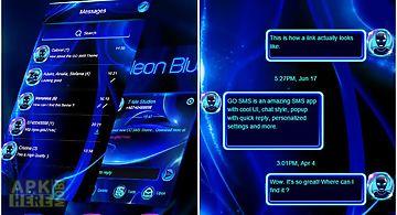 Neon blue sms