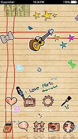 cute handwrite cartoon theme