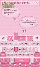 plastic pink go keyboard theme