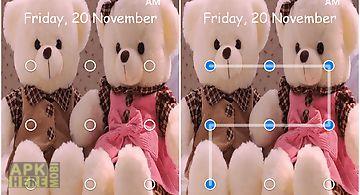Teddy bear pattern lock screen