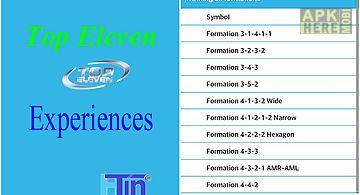 Top eleven - experiences