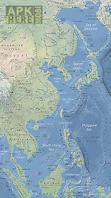 world map offline - physical