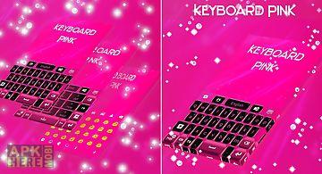 Keyboard theme pink