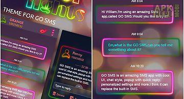 Go sms pro neonlight theme