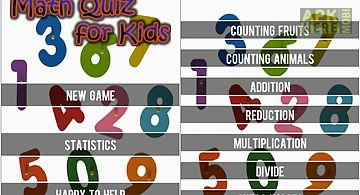 Math quiz for kids
