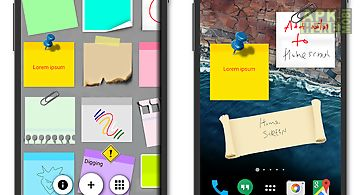 Sticky notes + widget memo