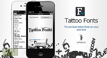 Text tattoo designer