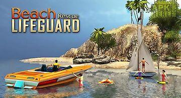Beach lifeguard rescue duty