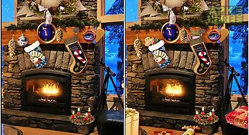 Christmas fireplace lwp Live Wal..