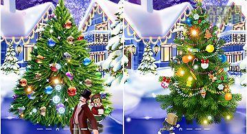 Christmas ice rink Live Wallpape..