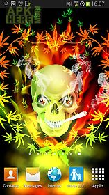 skull smoke weed parallax lwp live wallpaper ...