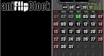 Animated flip clock 3d