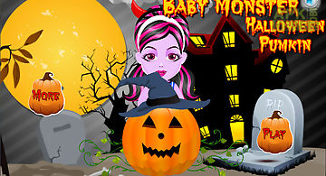 Baby monster halloween pumpkin d..