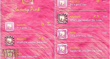 Go sms pro luxury pink theme