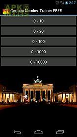 german numbers trainer free