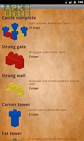 medieval castle in bricks