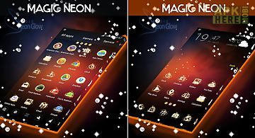 Magic neon glow go launcher