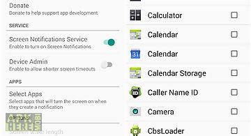 Screen notifications