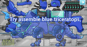 Dino robot - triceratops blue