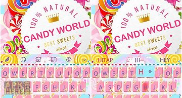 Candy world for hitap keyboard