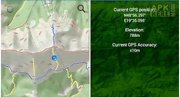 Hiking map slovakia