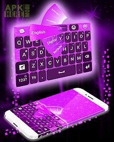 purple keyboard go theme