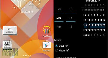 Countdown calendar widget