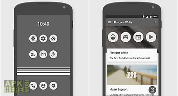 Flatcons white icon pack