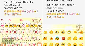 Happy sheep year keyboard skin