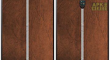 Leather zipper lock screen hd