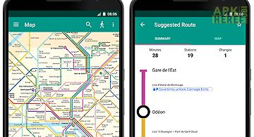Paris metro map and planner
