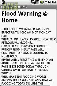 simple weather alert
