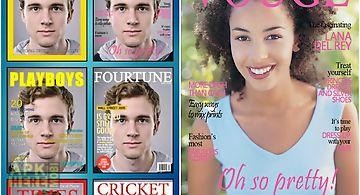 Fake magazine cover camera