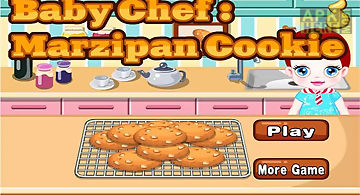 Baby chef-marzipan cookie
