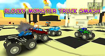 Blocky monster truck smash