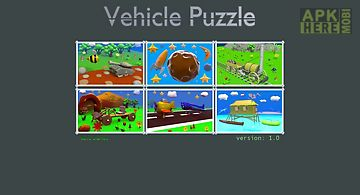 Cartoon vehicle puzzle