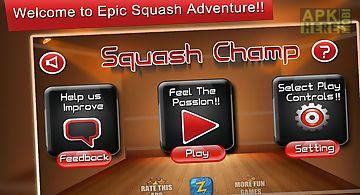 Squash champ sports challenge