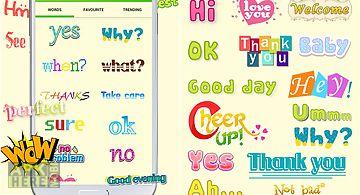 Wordart chat sticker w free