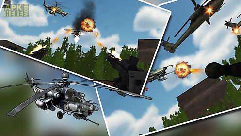 helicopter air battle: gunship